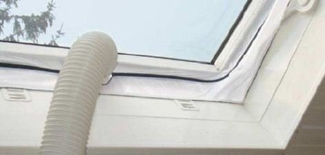 Comfee Hot Air Stop 10000356 Window Seal for Mobile Air-Conditioning Units/Tumble Dryers White