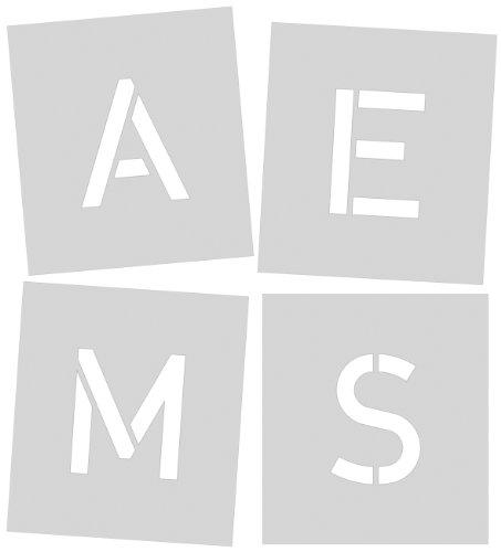 Signierschablone 250 mm Symbolgröße, Großbuchstaben A - Z, Sonderzeichen Ä, ?, !, &, gesamt 30 Schablonen