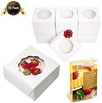 Cakelovers - Cajas para tartas (10 x 10 x 5 pulgadas), caja de ...