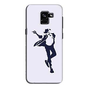 Cover It Up - Moonwalk Print Galaxy A8 2018 Hard Case