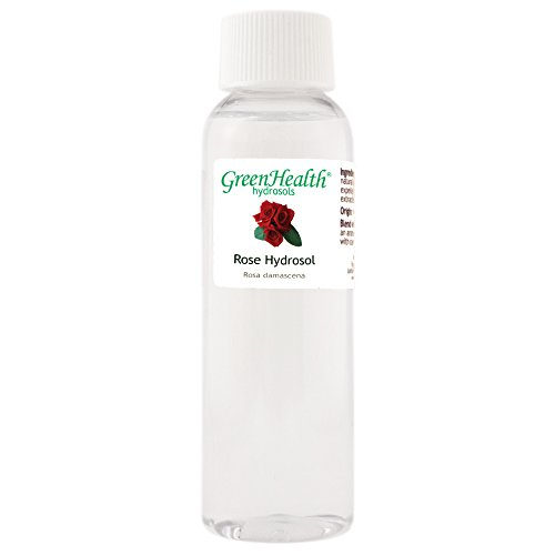 Rose Hydrosol - 2 fl oz Plastic Bottle w/Cap - 100% pure, distilled from essential oil