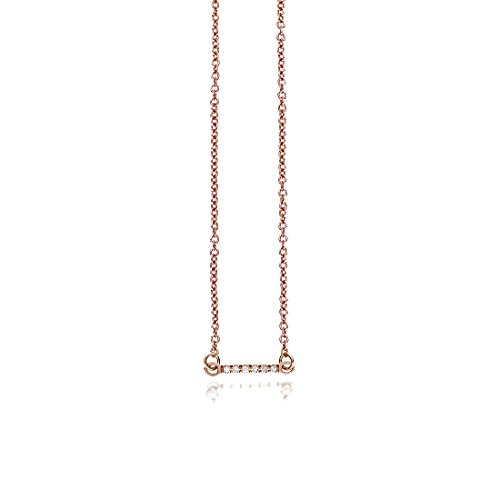 - SEVEN50 Mini Bar Necklace Rose Gold Extremely Durable 9K Rose Gold Real Classic Gift Box