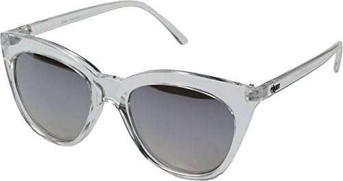 QUAY AUSTRALIA Women's Isabell Clear/Silver Mirror - Made In Australia Sunglasses