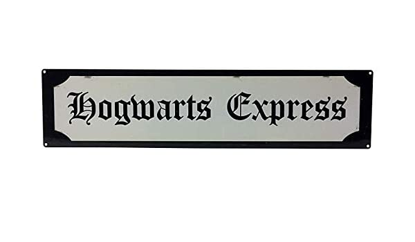 Geko Metal Street Sign Hogwarts Express - Placa metálica (70 ...
