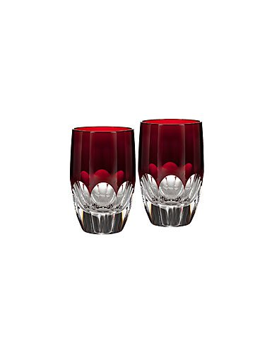 Waterford Talon Red Shot Glasses Pair by Waterford