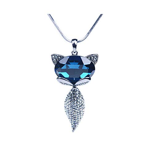 XUXI Fox Necklace Fashion jowlhery Pendant with Crystals Gift for Mother's ()