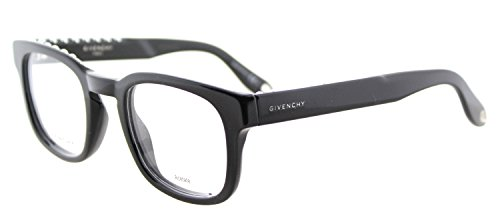 Givenchy GV 0006 807 Studed Black Plastic Square Eyeglasses - Frames Givenchy