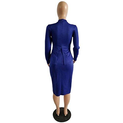 Zarupeng Mode Damen Büro Kleid Frauen Formelle Partei Mantel Tunika ...