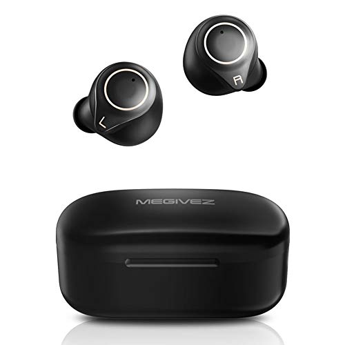 Wireless Earbuds, MEGIVEZ Bluetooth Headphones 5.0 True Wireless with Charging Case, Qualcomm aptX Stereo Sound Touch Control IPX5 Waterproof 26H Playtime Built-in Mic Sport in Ear Earphones