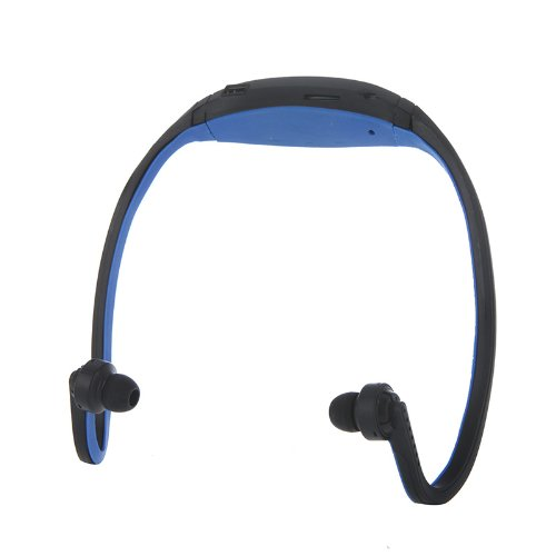 Docooler Sport MP3 WMA Music Player TF/ Micro SD Card Slot Wireless Headset Headphone Earphone (Blue) (Windows 8 Sd Card compare prices)