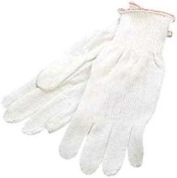 Prestige – Guantes de hilo de algodón blanco, sin costuras: Amazon ...