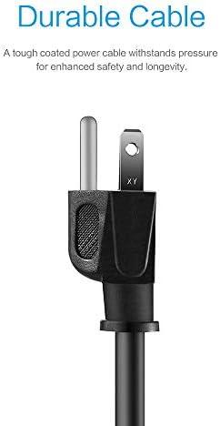31IdwakH6PL. AC KMC 6-Outlet Surge Protector Power Strip 2-Pack, 900 Joule, 4-Foot Cord, Overload Protection, Black    Product Description