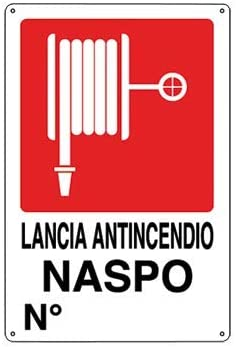 Pixlemon Schild aus Aluminium 50 x 35 cm - Brandschutzgitter NASPO N (Numero)