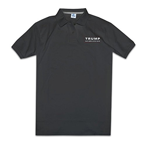 YYHU Men's Trump Make America Great Again Short Sleeve Polo - Size L - Faster Apparel Again
