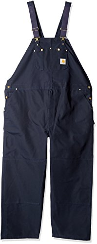 Carhartt Men's Big & Tall Duck Bib Overalls Unlined, Dark Navy, 58W X 32L