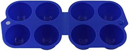 Justdodo 4 Rejillas Caja de Soporte de Huevo Caja de Almacenamiento de Cocina Contenedor de Huevo portátil Estuche Portador de Huevo Fresco para Senderismo Camping al Aire Libre - Azul: Amazon.es: Jardín
