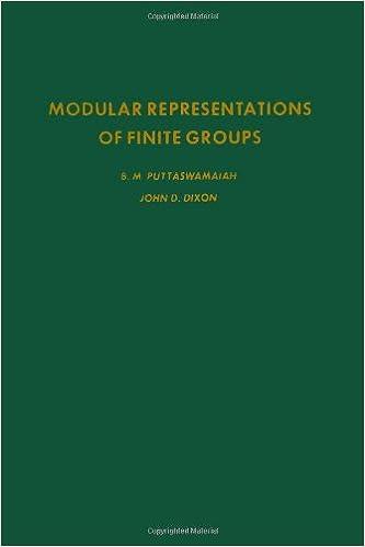 B.M. Puttaswamaiah - Modular Representations Of Finite Groups