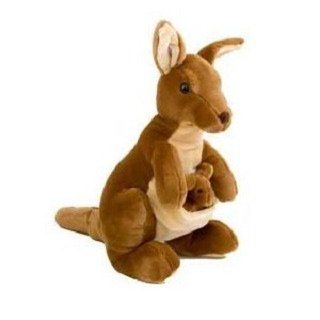 Kangaroo And Joey Plush Stuffed Animal Toy 20 H By Unipak Stofftiere