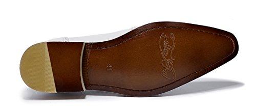 Felix Chu Mens Dress Shoes Uomo Gentlemen Oxford Formale Scarpe In Vera Pelle Da Uomo Festa Di Nozze Nero Rosso Scarpe Per Uomo Bianco
