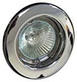 10 X Downlight GU10 240V Chrome Light F