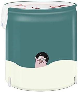 浴槽 アダルトBathbarrelグリーン豚折りたたみバスタブ折り畳み式の全体の家族は子供の折り畳み式のバスタブ大グリーン 大人用家庭用 (Color : Green, Size : 70x65cm)