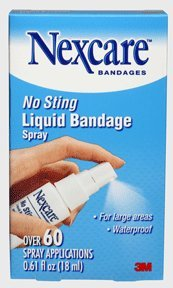 3m Nexcare No Sting Liquid Bandage Spray - 0.61 Oz ( 18 Ml ) (Pack of 4)