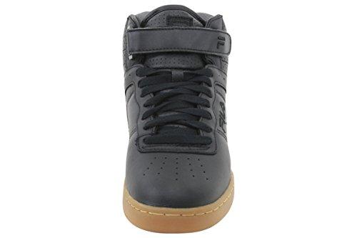 Fila Mens F-13 Sneakers Alte Scarpe Nere / Nere / Gomma