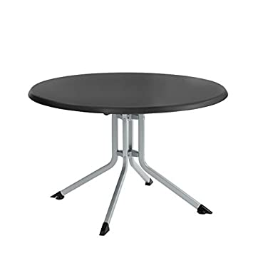 Kettler 46 en. Table Ronde Pliante Silver Frame with Gray ...