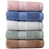 ZEEKO 100% Cotton 5 Piece Face and Hand Towel Set,(Multicolor)