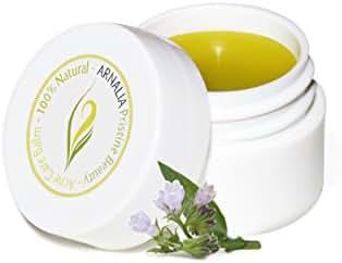 ARNALIA Acne Care Cream, 100% Pure Natural & Organic Wild Herbs, Face & Back Acne Spot Treatment, Cystic & Hormonal Acne, Teen Acne, Cold Sores, Tea Tree Oil Rapid Clear Balancing Cosmetic Balm 0.3oz