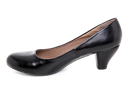 Andres Machado.AM5002.Salon Clasico en Soft .Mujer.Tallas Grandes 42/45 Negro