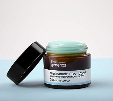 Skin Generics   Crema Facial Hidratante 50 ml   Crema Multi-Protección FPS30 Osmocity   24% Complejo Activo   Hidratación Profunda Anti-Polución   Crema Facial Mujer   Protección Frente a la Luz Azul