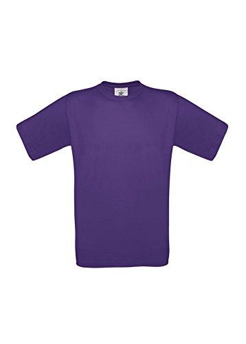 B & C Exact 190Herren T-Shirt Lila XXL