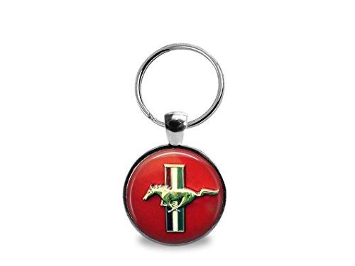 Vintage Ford Mustang Emblem Key Chain
