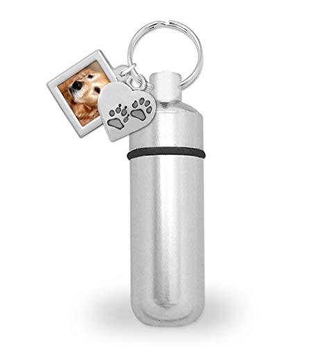 Dog Pet Photo Keychain - Photojewelrymaking Pet Dog Cat Ashes Holder