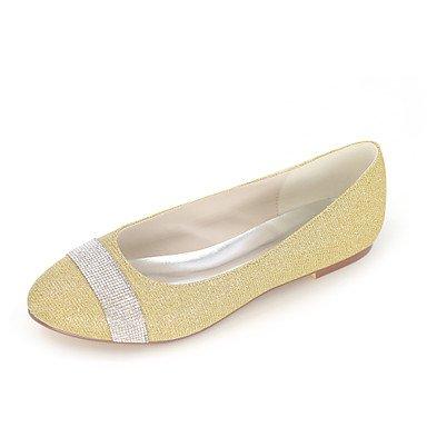 Zapatos De Mujer Glitter Primavera / Verano / Otoño / Punta Redonda Flats Flats Boda / Oficina &Amp; Carrera / Parte &Amp; Por La Noche / Vestido Bajo 1En Plata Golden
