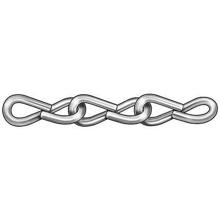 Jack Chain, Single, Brass, Sz 16, 10Lb, 100Ft ()