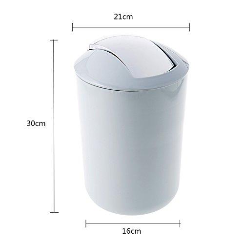 Haushalts-runde Plastikschütteln-Abdeckungs-Abfalleimer, modernes modernes modernes kreatives großes, Wohnzimmer-Schlafzimmer-Küche-Toiletten-Büro-Papierkorb, 9L ( Farbe   Rosa ) a3f734