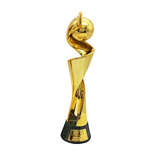 (Sanqing FIFA Women's World Cup Trophy, League Prize Electroplating Gold Environmentally Friendly Resin Corrosion Resistant Souvenir,Gift for Soccer Fans,Gold)