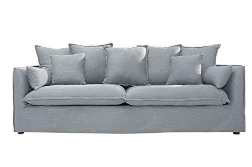 Casa Padrino Salón de diseño de 3 plazas Gris sofá Calidad ...