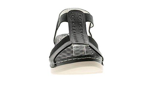 Gluv Mujer Cómodo Sandalia con Ancho Plantilla Acolchada Y Leve Plataforma Suela Elástico Sección A Tiras Parte Superior Para Fácil Sin Cordones/offchop Pierdas Detalle A upp