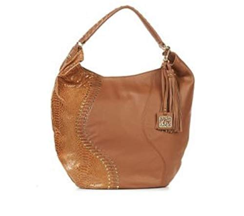 Chi by Falchi Leather Hobo with Embossing and Studs -