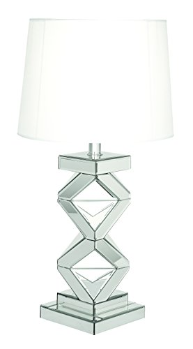 - Deco 79 87371 Glass Mirror Table Lamp, 29