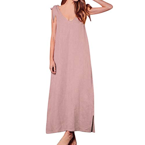 V-Neck Casual Dress Summer Women's lace-up bowless Casual