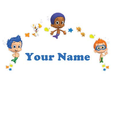 Personalized Bubble Guppies Boys Kids Name Wall Decal -