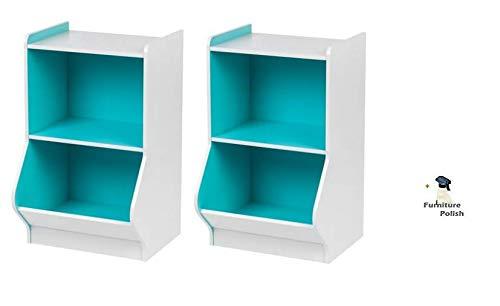 IRIS Easy Access Storage Organizer Shelf, (2 Shelves (2pack), Blue + Freebie)
