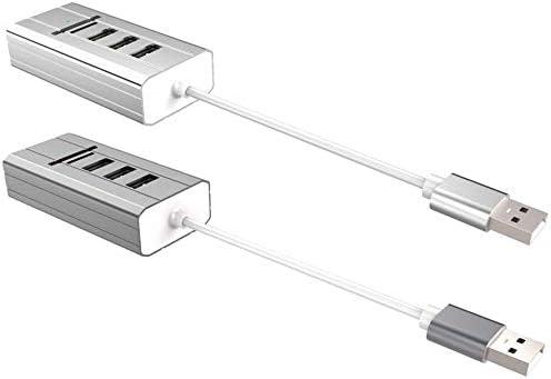 USB Multi-Function hub Sound Card USB Multi-Function Hub Sound Card 3 Ports Stereo Computer Audio USB Divider+USB External Sound Card+USB Card Reader