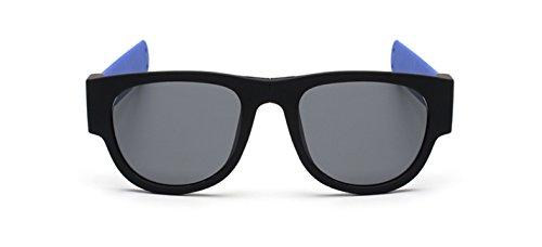 de de Unisexe lion Dent polarisant soleil de soleil lunettes Bleu pliante Lunettes sport de en bracelet g5dx0xqX