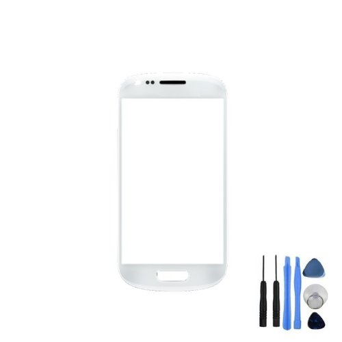 BisLinks White Front Screen Lens Glass For Samsung Galaxy S3 Mini i8190 + Tools, Adhesive