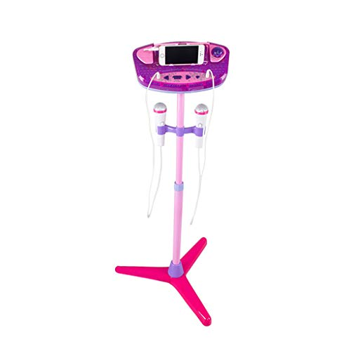 Vovomay Kids Karaoke Machine with 2 Microphones Adjustable Stand Music Play Toys Set - Frozen Microphone Radio And